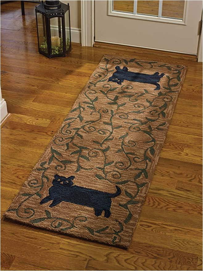 Bath Rug Runner 24 X 72 Park Designs Cat Hooked Rug Runner 24×72 24 X 72