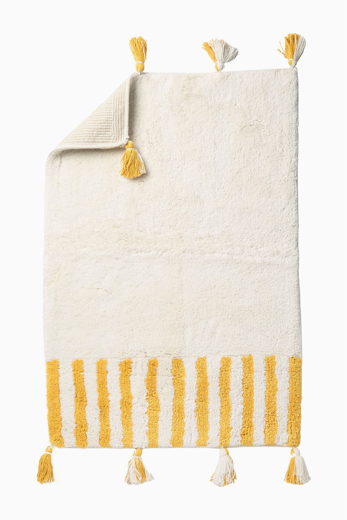 nordstrom rack offset stripe tassel bath mat 24 x 36
