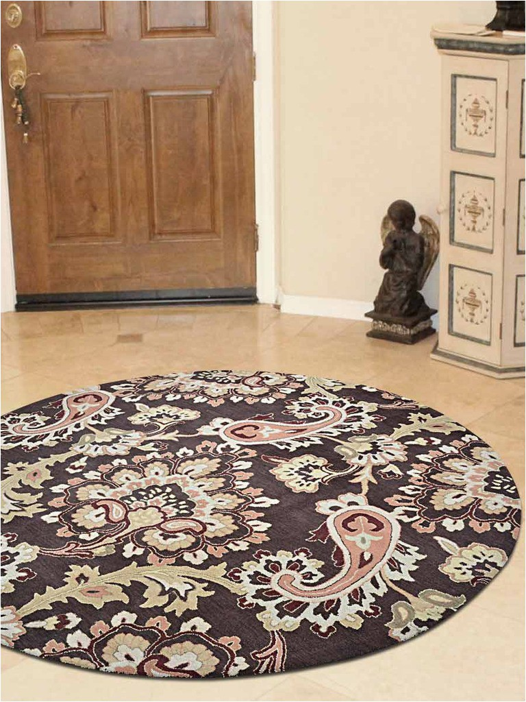 Bed Bath and Beyond Round area Rugs Finalframe 10 X 10 Ft Floral Hand Tufted Woolen Round area