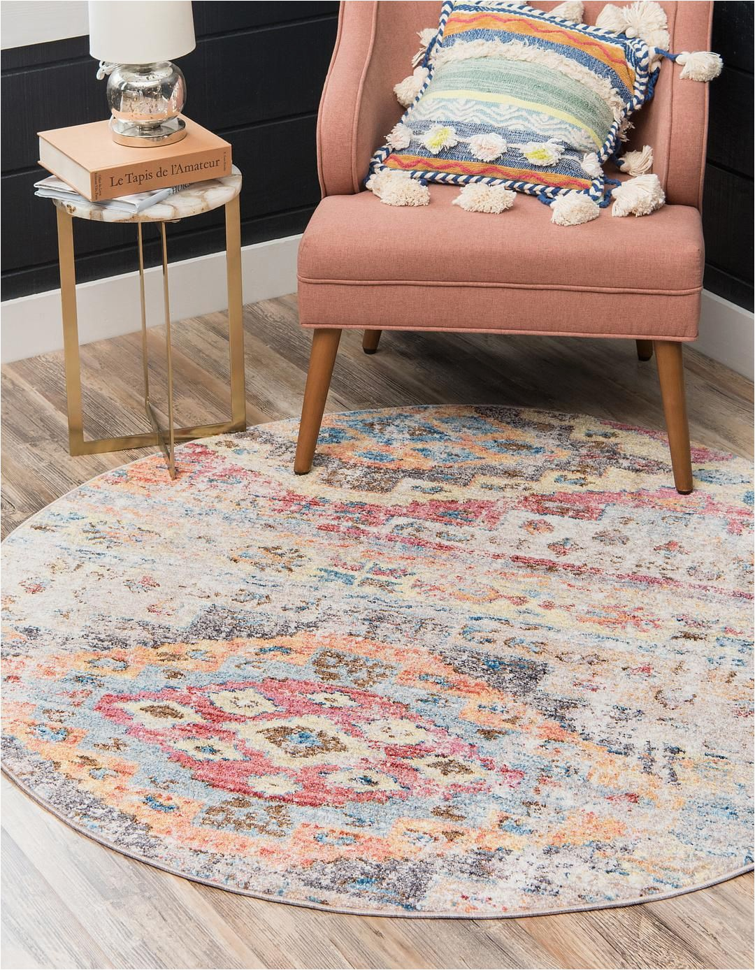 Bed Bath and Beyond Round area Rugs Multi Unique Loom 5 X 5 Basilica Round Rug