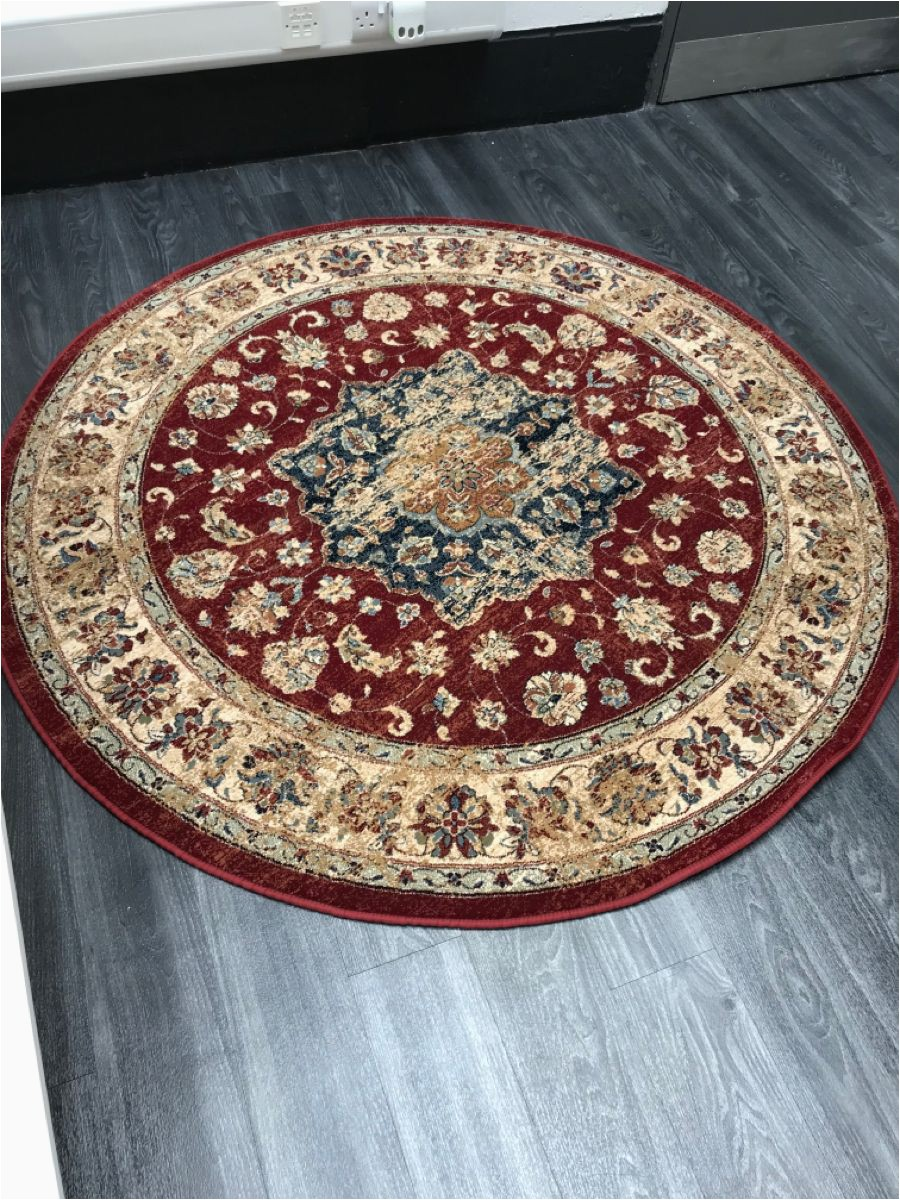 Bed Bath and Beyond Round area Rugs Timouri Red Circle Rug In 2020