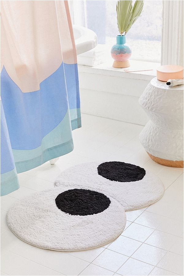 Belize Memory Foam Bath Rug Googly Eyes Bath Mat