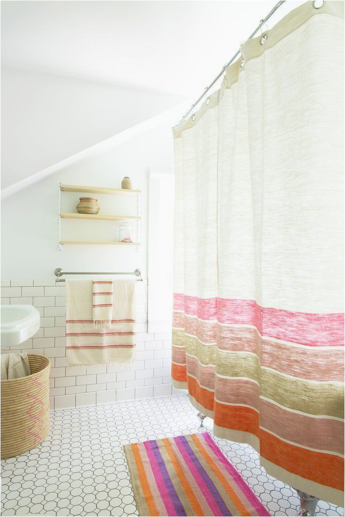 bole road textiles bathroom pink and orange bath mat