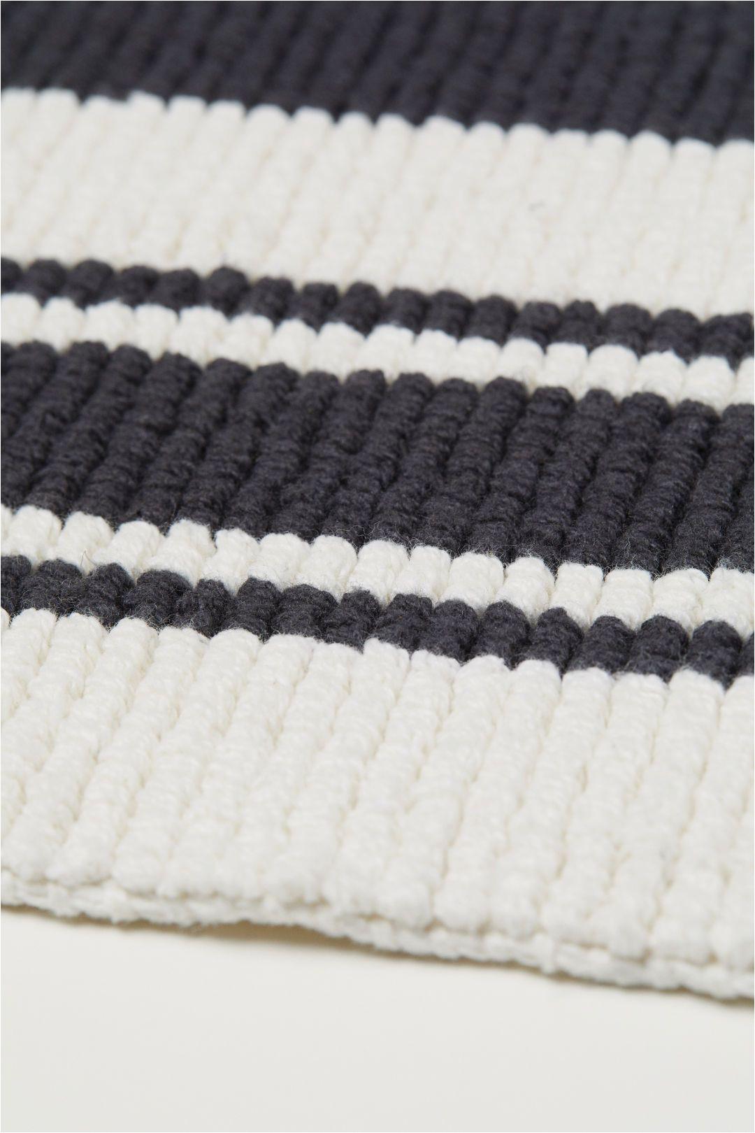 Black Cotton Bath Rug Pin On Bathrooms