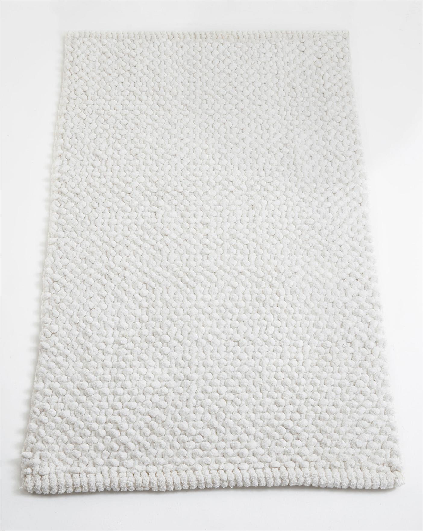 Cotton Bath Rugs Made In Usa Cotton Bobble Bath Mats White