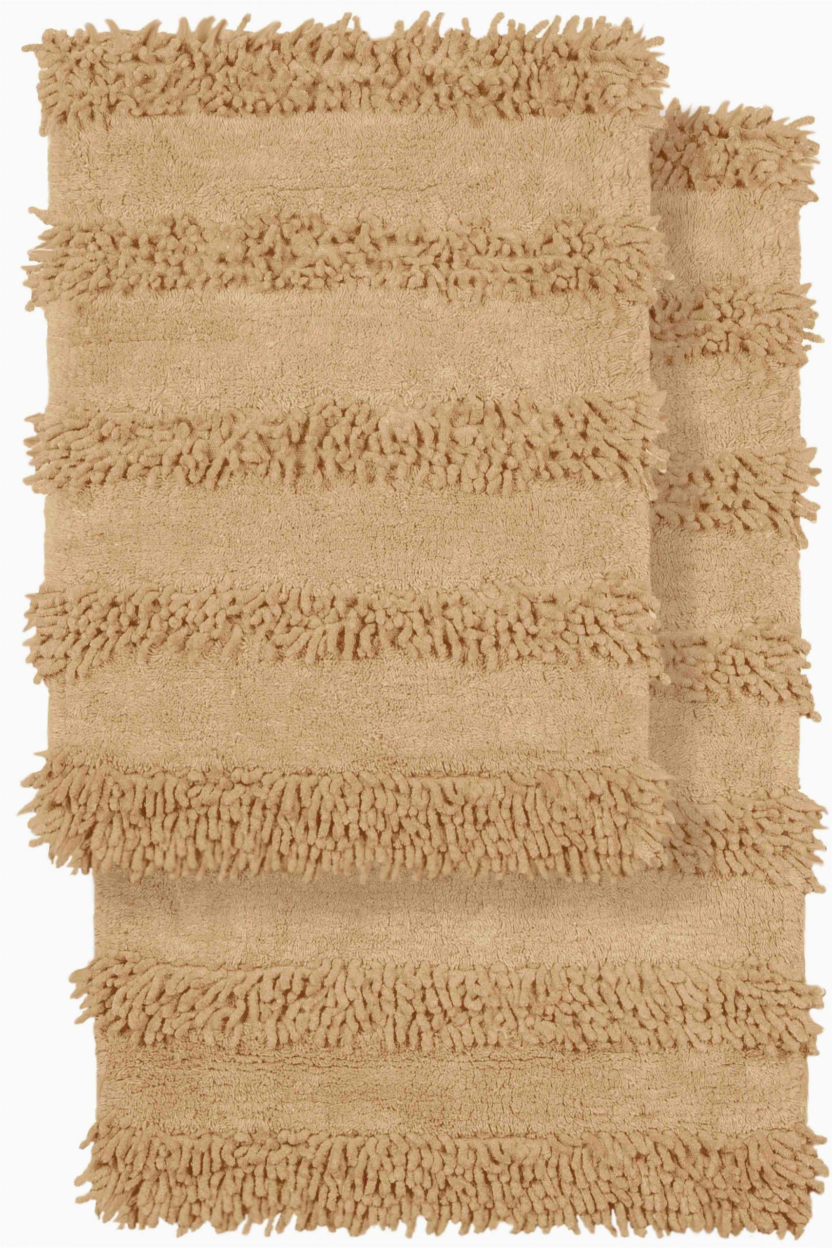 crover 2 piece modern cotton chenille solid bath mat rug set crvr1045