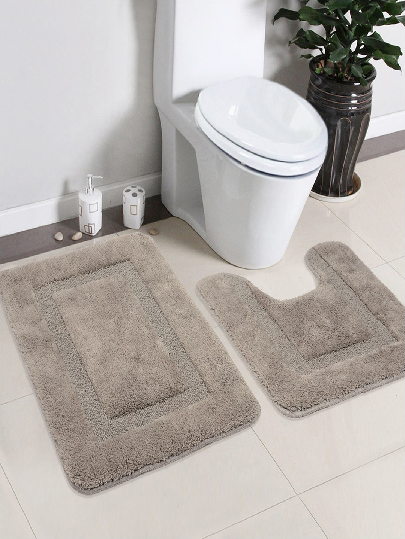 851ab7e1 e705 459c 8895 601db919cbbf Saral Home Grey Cotton Bath Rug Contour 1