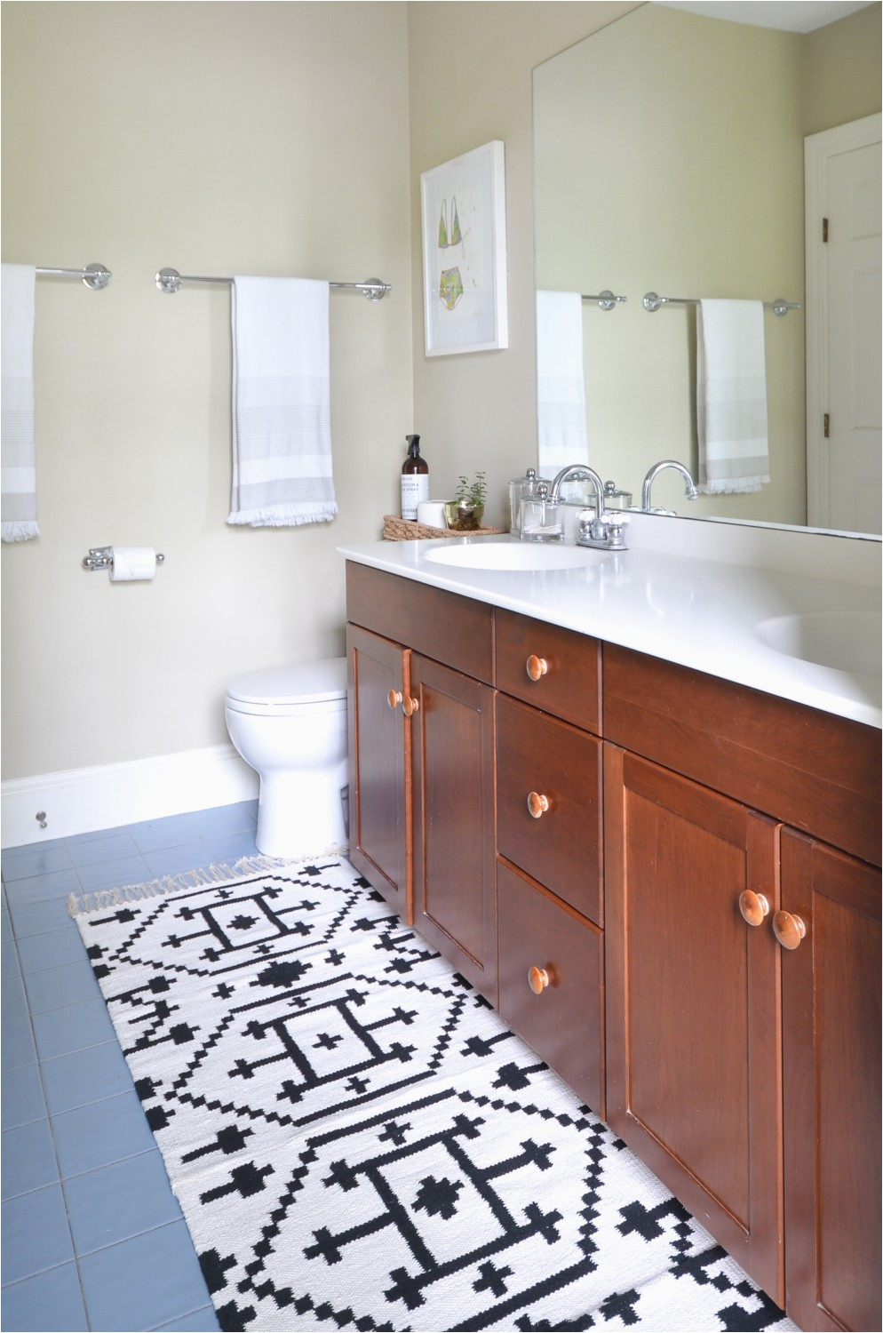 Custom Bath Rug Sizes How to Sew Two Small Rugs to Her to Make A Custom Runner