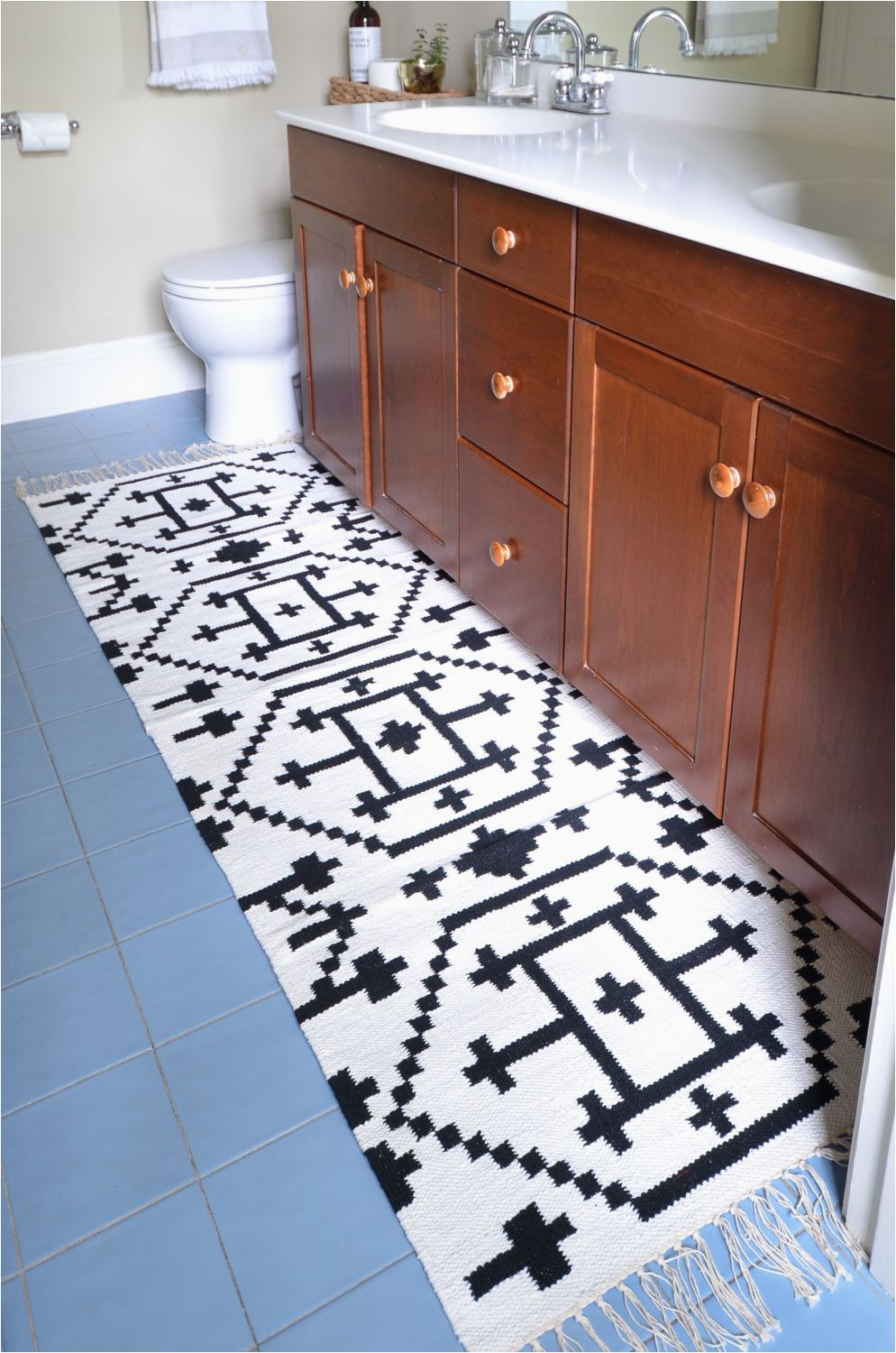 Custom Size Bath Rugs How to Sew Two Small Rugs to Her to Make A Custom Runner