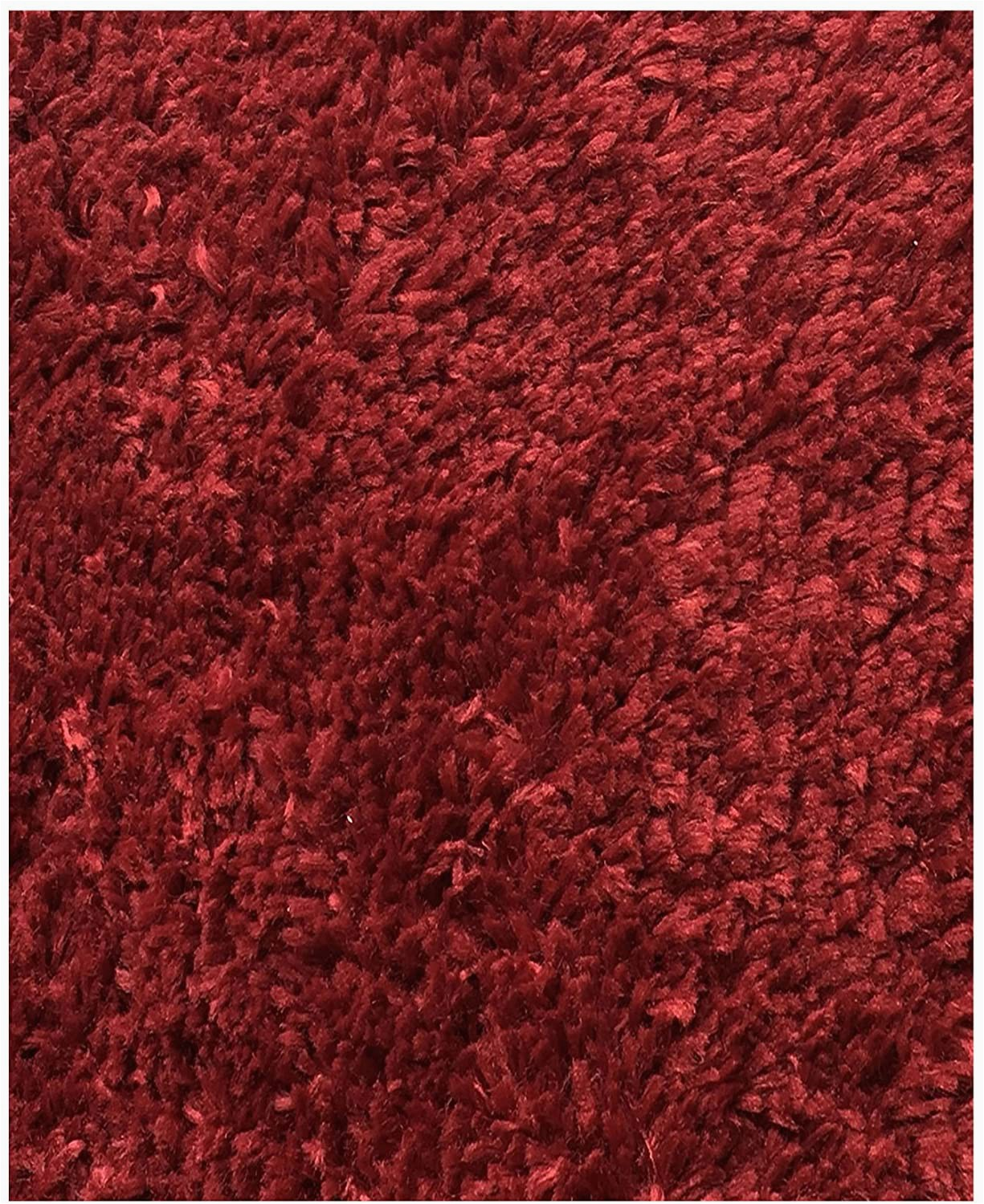 Cut to Fit Bath Rug Mohawk Home Cut to Fit Royale Velvet Plush Bath Carpet Claret 5 by 6 Feet