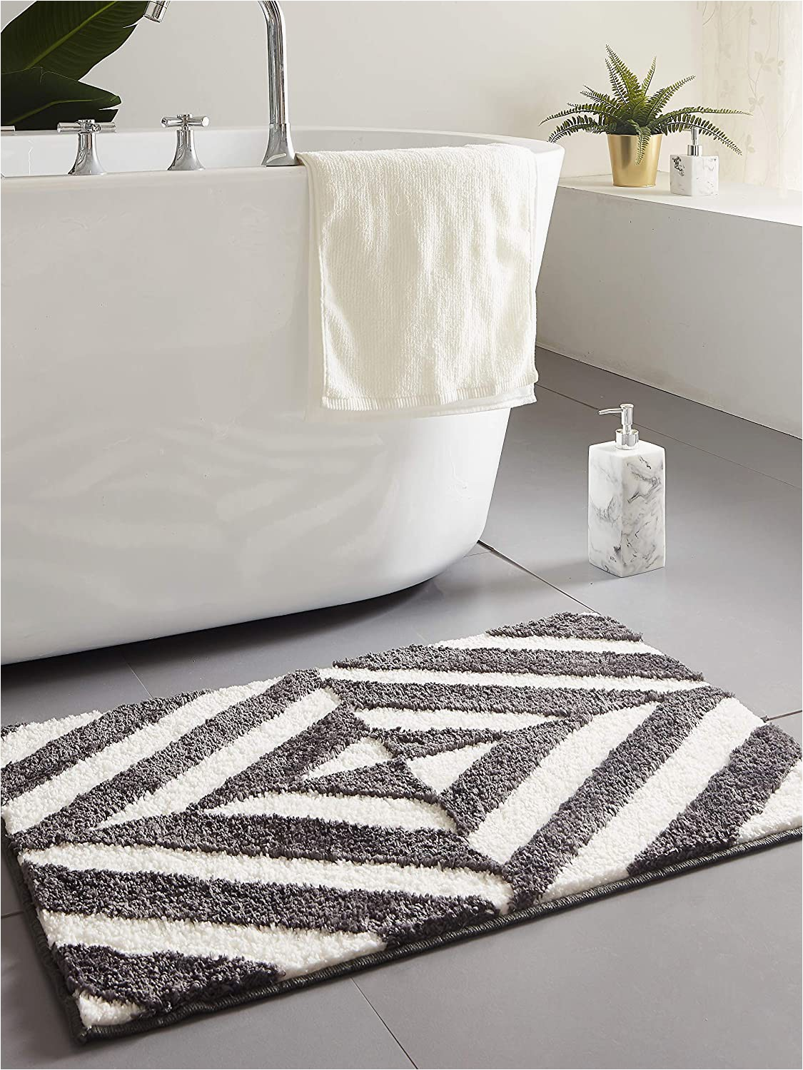 Dark Gray Bath Rugs Amazon Desiderare Thick Fluffy Dark Grey Bath Mat 31