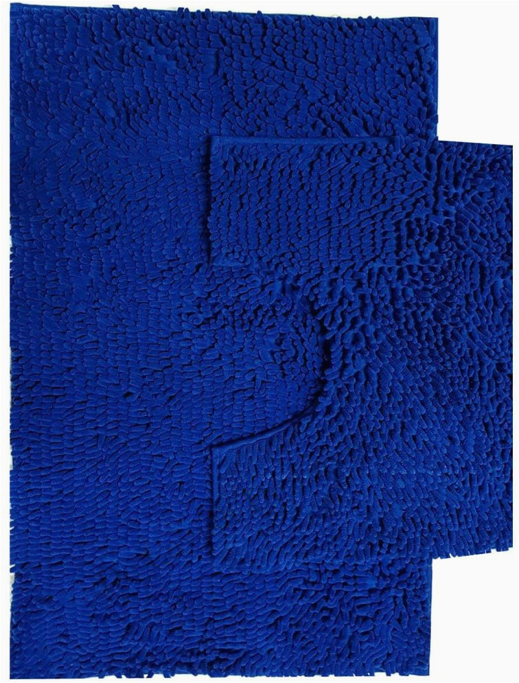 Dolce Home Luxury Chenille Bath Rug Gaveno Cavailia Super Absorbent Loop Bath Set Chenille Royal Blue