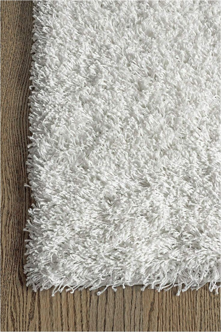 Dolce Home Luxury Chenille Bath Rug Super area Rugs Ivory White Shag Rug 2feet by 3feet 2×3