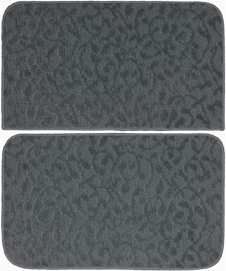 Garland Deco Plush 3 Pc Bath Rug Set Ivy Floral Kitchen Door Mat