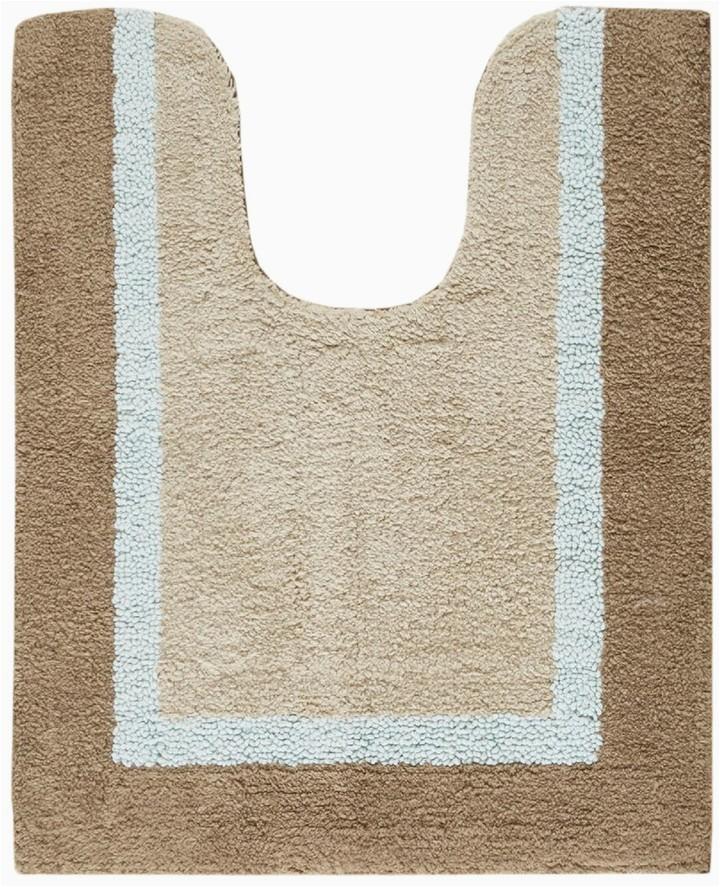 Garland Deco Plush 3 Pc Bath Rug Set Striped Contour Bath Rug