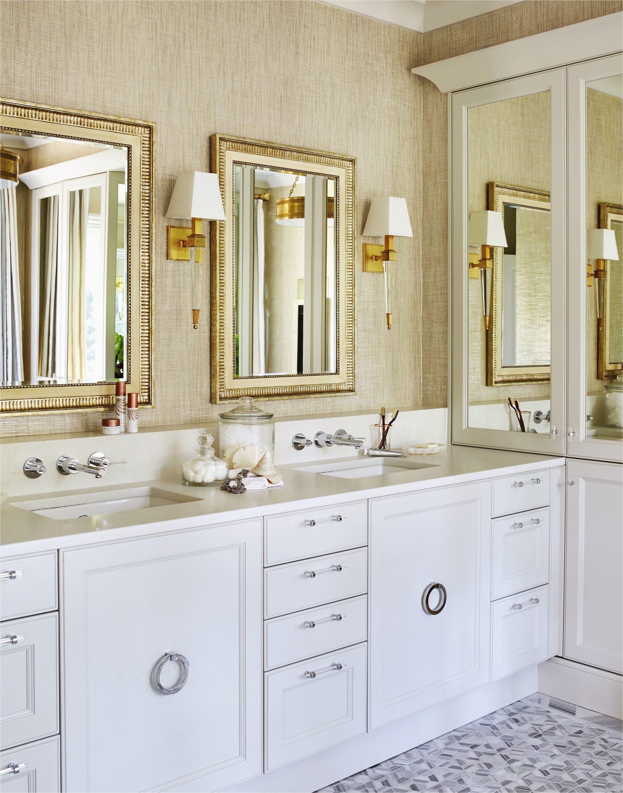 elegant gold bathroom