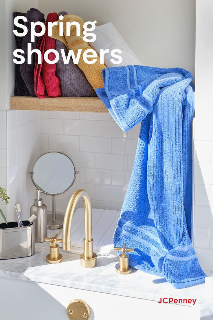 Jcpenney Bath towels and Rugs Spring Bath Inspo In 2020
