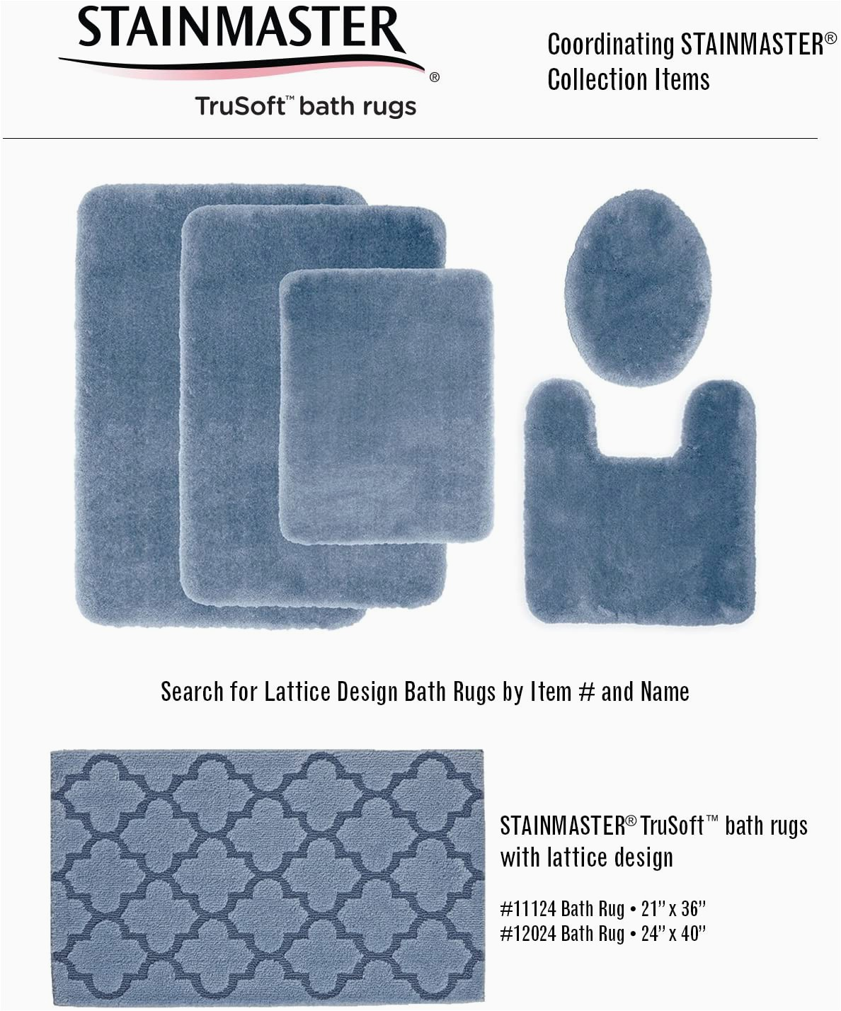 Jcpenney Contour Bath Rugs Stainmaster Trusoft Luxurious Contour Bath Rug 20 by 24 Inch Blue Sky