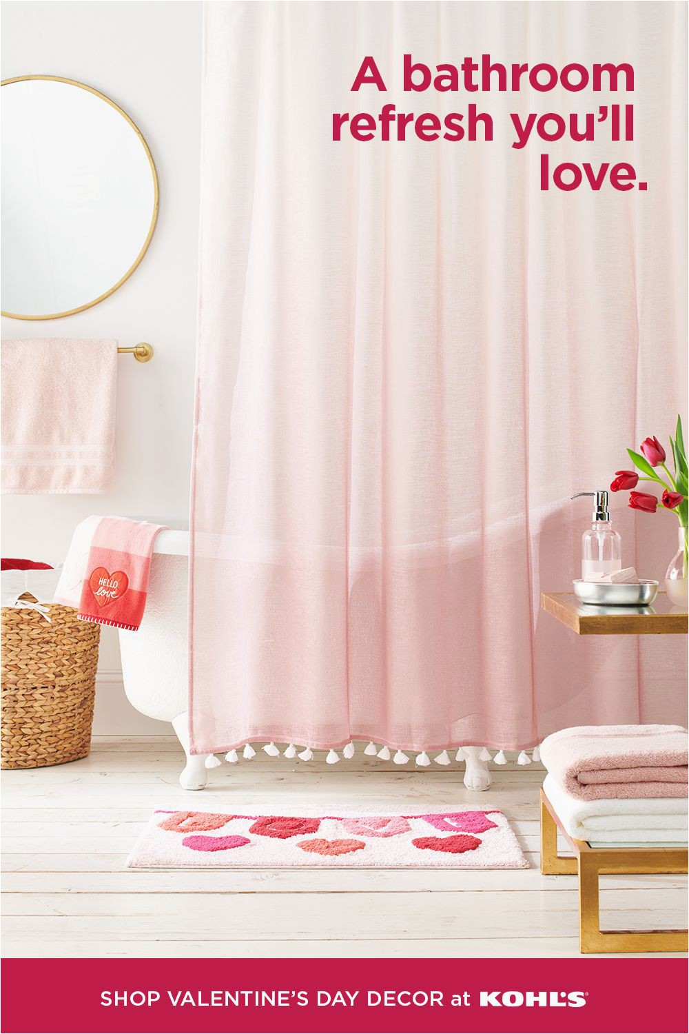 Kohl S Bath towels and Rugs Give Your Bathroom A Refresh with A Cute Shower Curtain