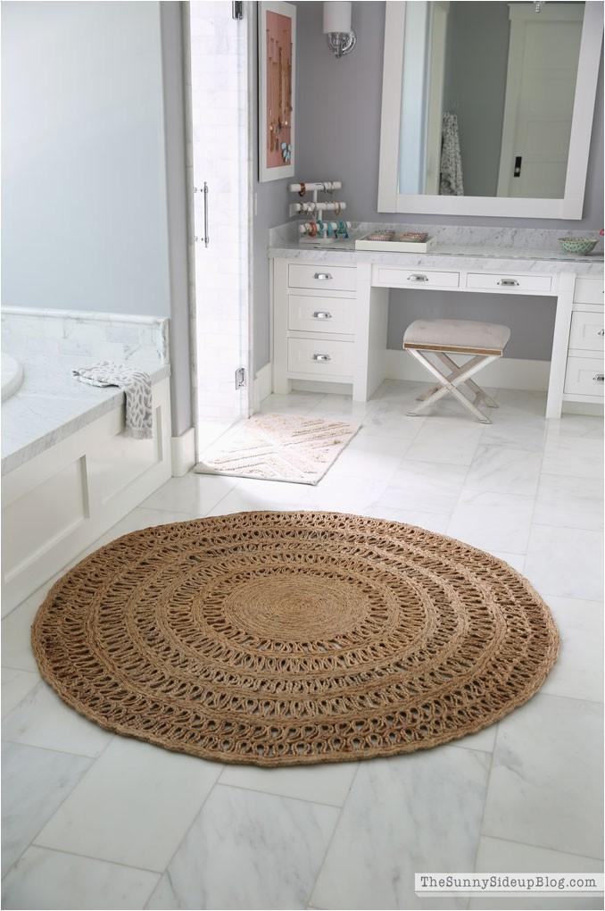 round jute bathroom rug