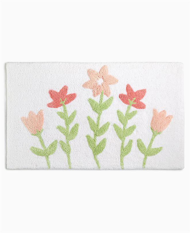 "Lenox Holiday Bath Rug Martha Stewart Collection Closeout Flower Bed 21"" X 34"