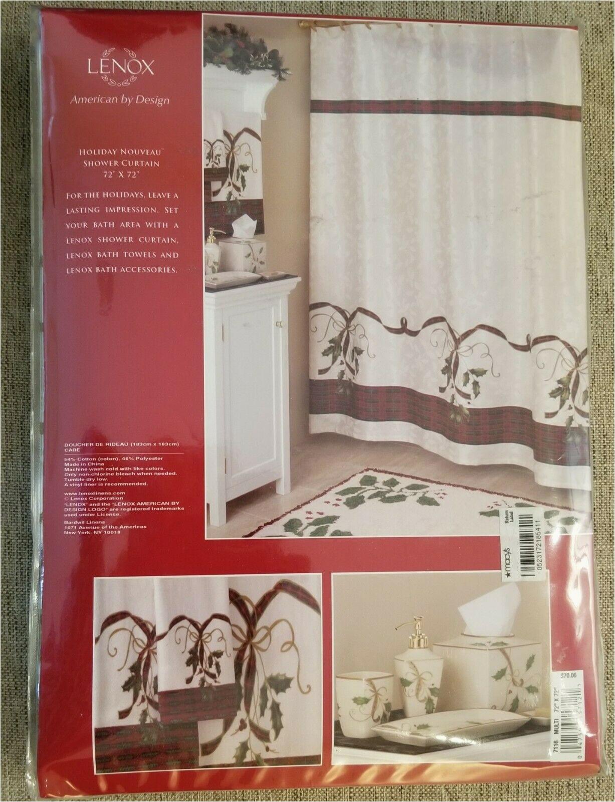 Lenox Holiday Nouveau Bath Rug Lenox Holiday Shower Curtain