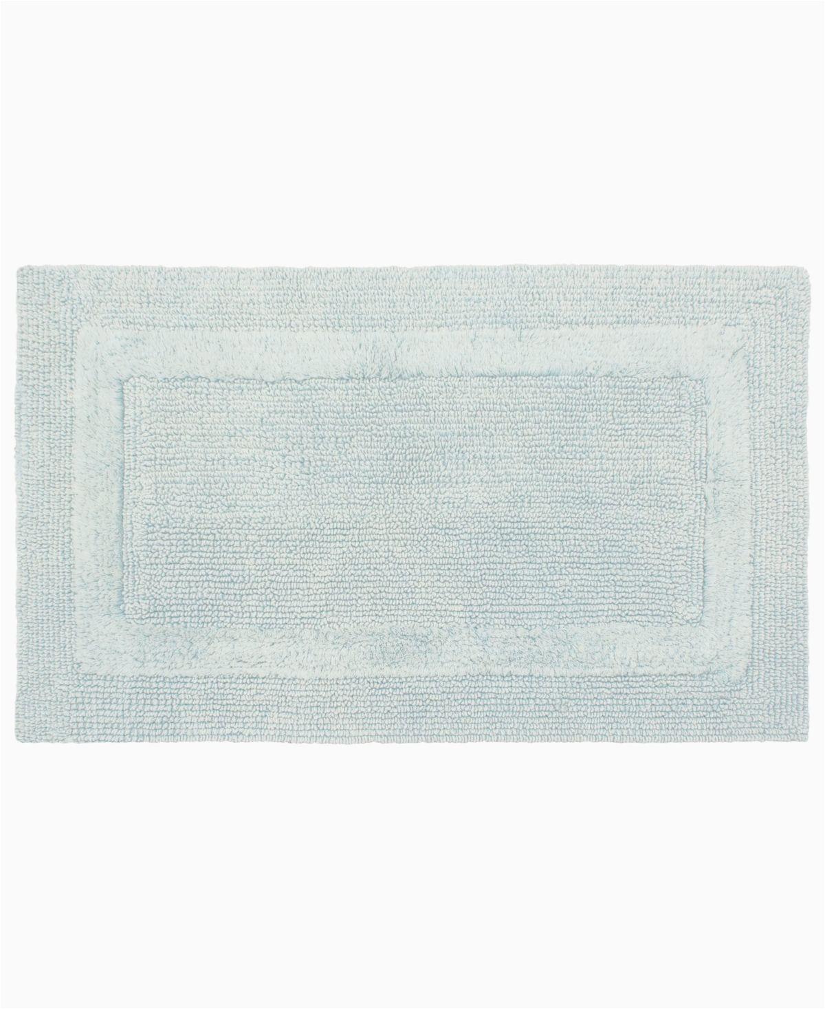 """Light Grey Bath Rug French Connection Stonewash Cotton 17"""" X 24"""" Bath Rug"""