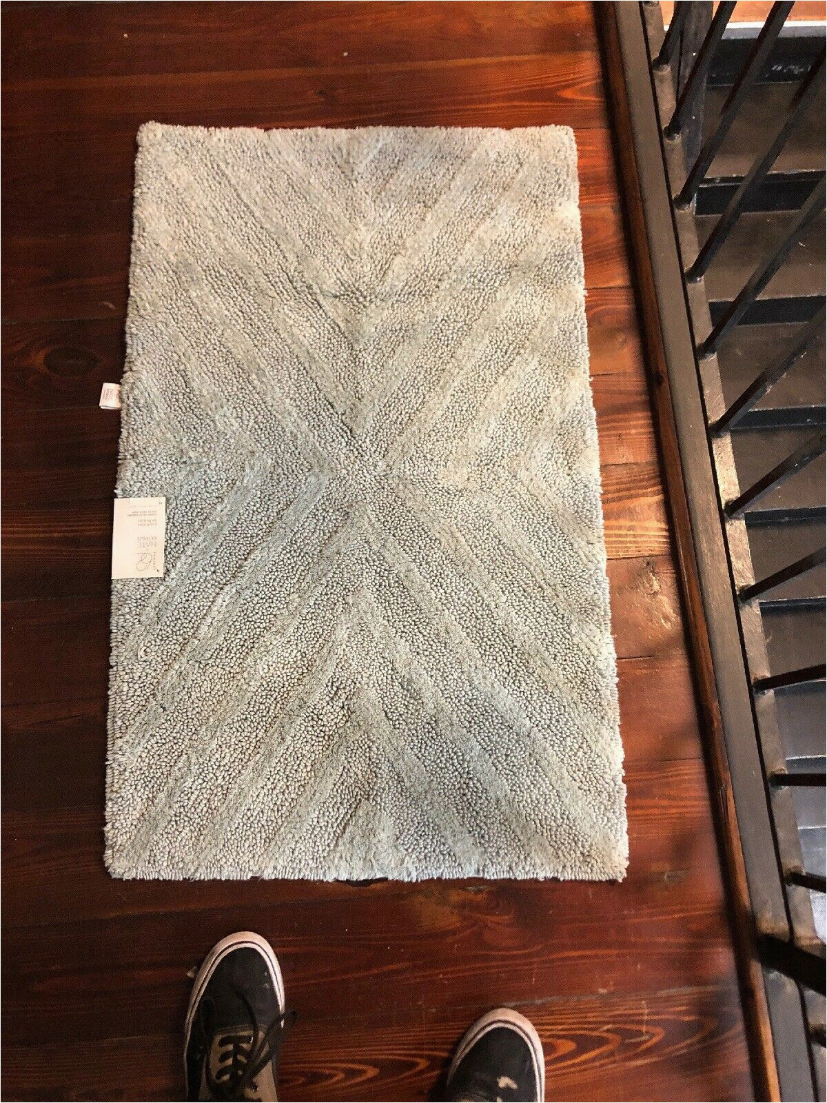 "Light Grey Bath Rug Nate Berkus Project 62 Bath Rug 24"" X 24"" Light Blue Square"