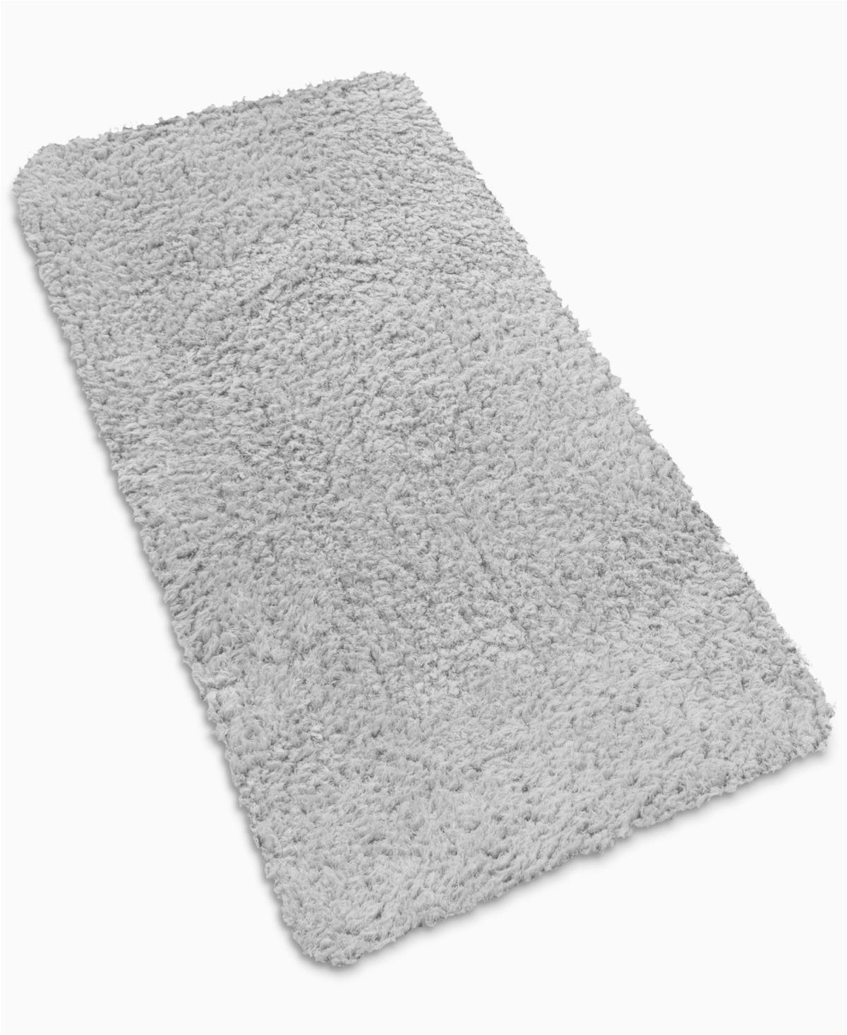"Light Grey Bath Rug Sensorgel Closeout soft Twist™ 17"" X 24"" Waterproof Memory"