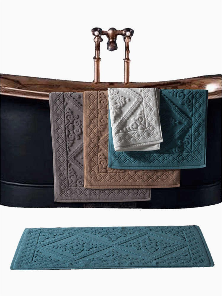 Luxury Bath Rugs and towels 1pc Hotel Cotton Bath Mat Luxury Home Bath Rug Jacquard towel Rug Thick Anti Slip Doormat Super Absorbent Bathroom Tub Mats