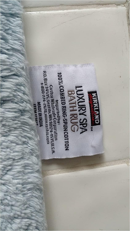 """Luxury Spa Bath Rugs Kirkland Luxury Spa Bath Rug 24"""" X 36"""" X 3 4"""" Bay Blue"""