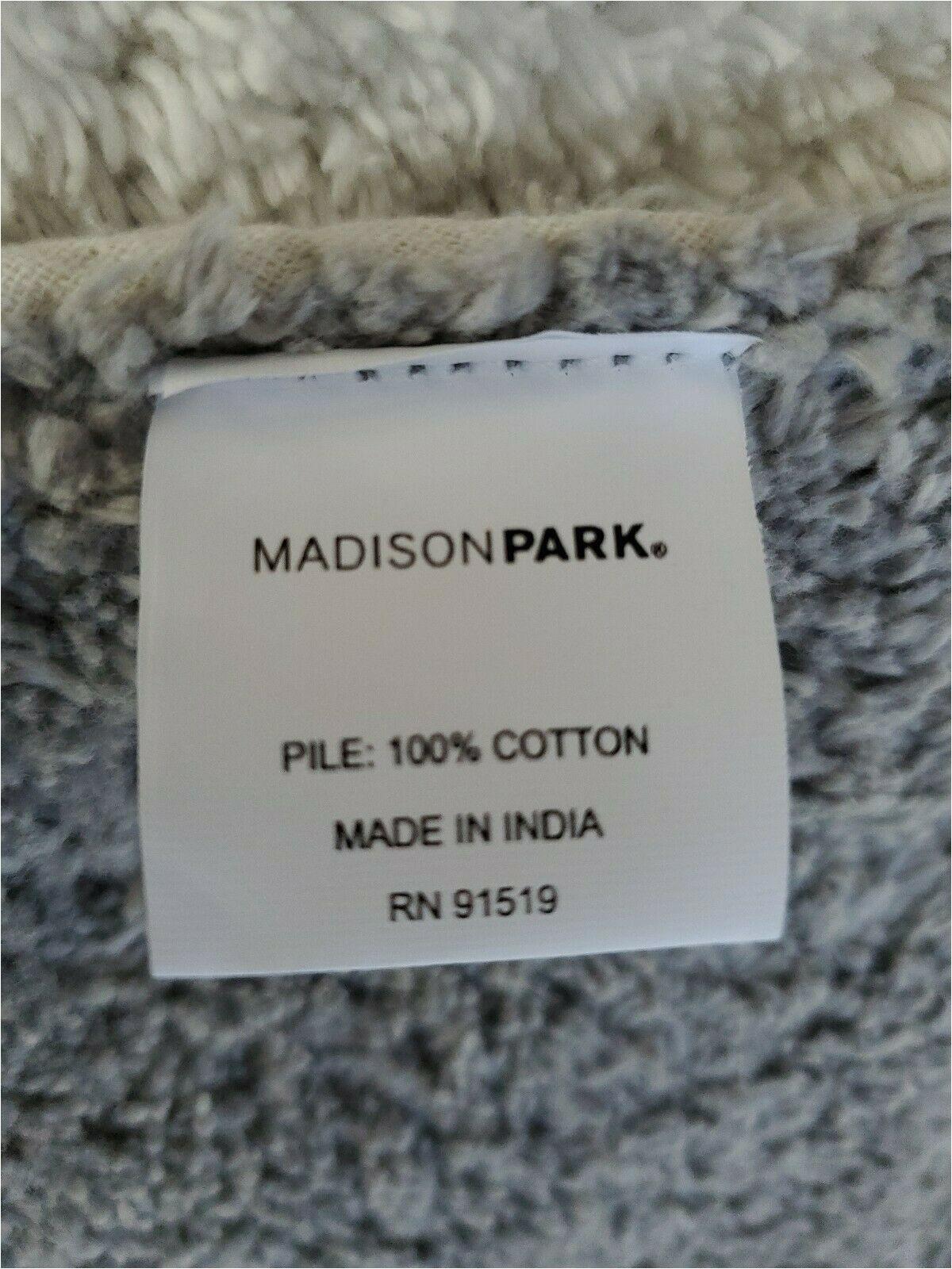 Madison Park Signature Marshmallow Bath Rug Madison Park 24×72 Grey Stripe Reversible Bath Rug Cotton