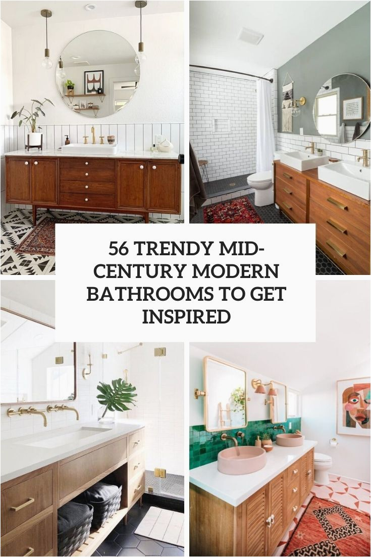 56 trendy mid century modern bathrooms to inspired cover