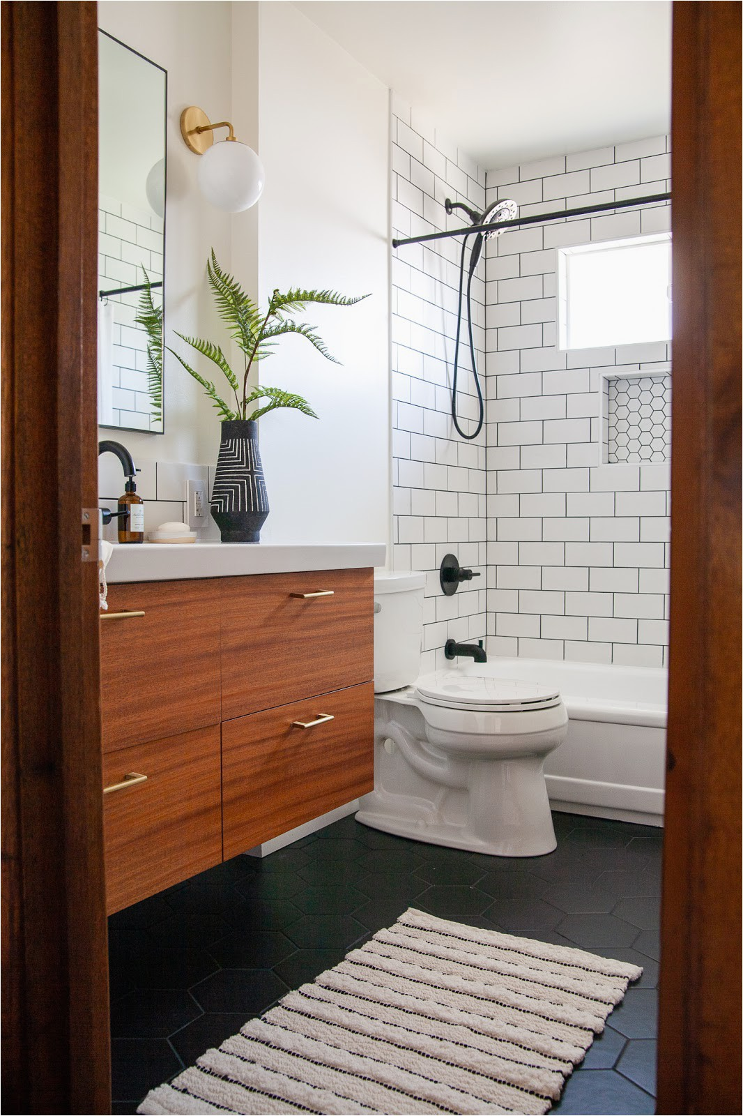 modern bathroom renovation reveal week 6 ORC