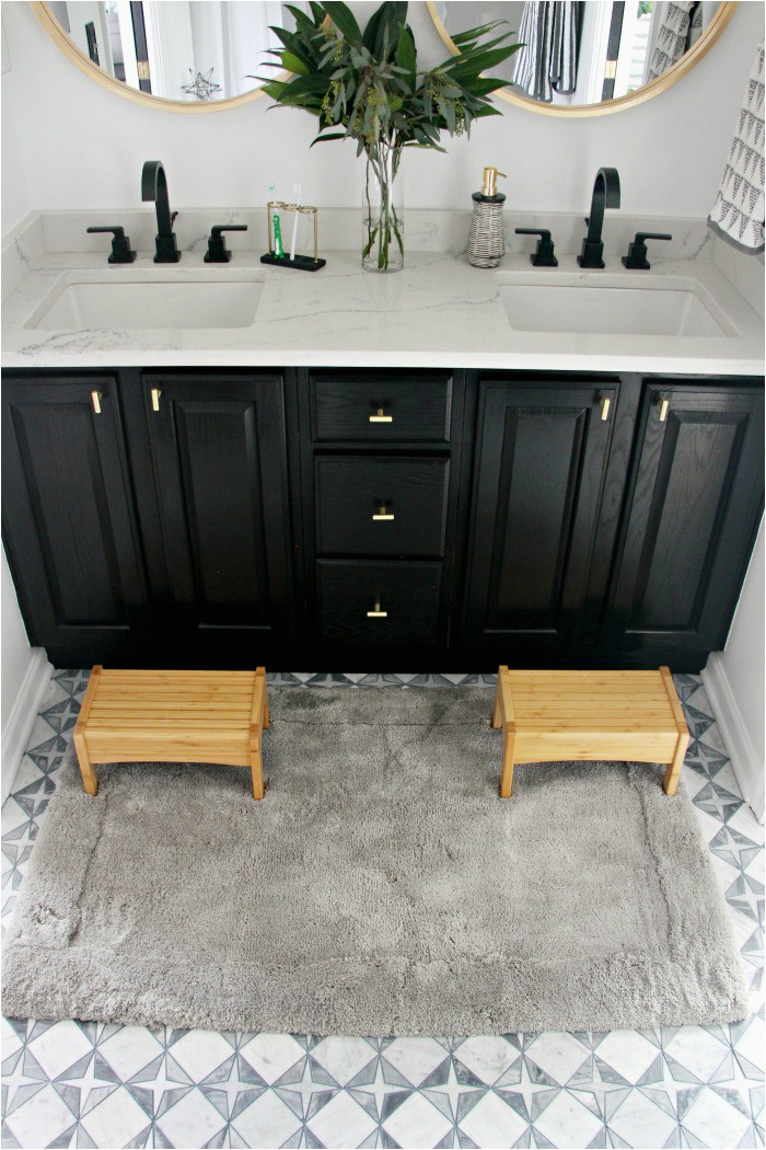 plush bath mat rug from Mohawk for neutral modern bathroom update This is our Bliss