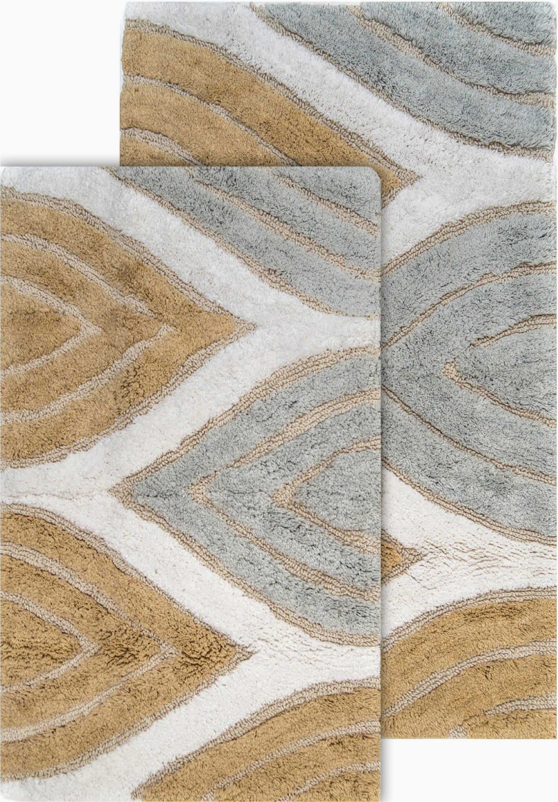 alcott hill steadman rectangular 100 cotton non slip geometric 2 piece bath rug set altl3558 piid=
