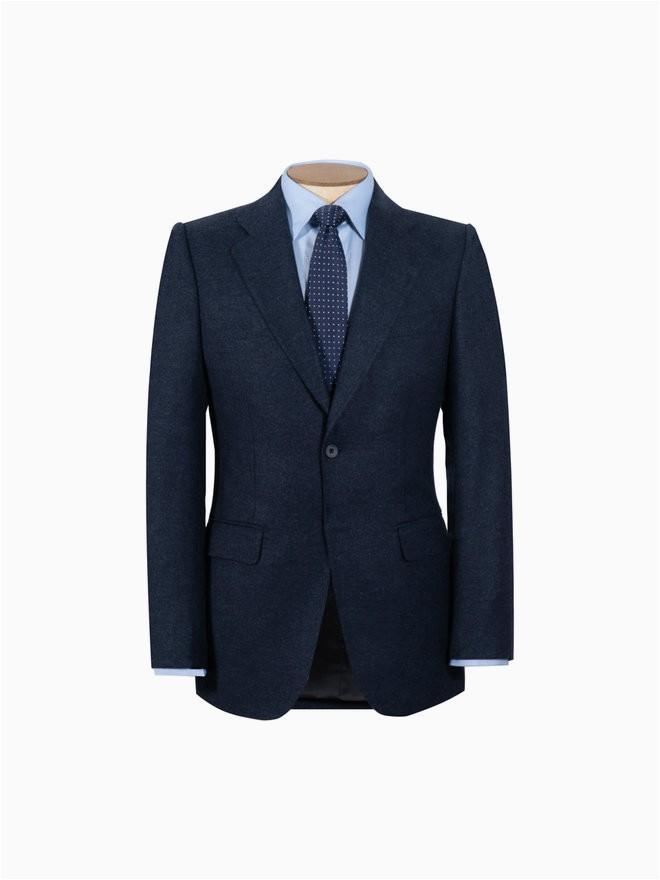 Oliver Brown London Bath Rugs Brompton Suit Navy Flannel