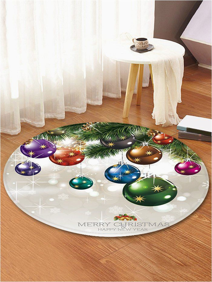 Round Christmas Bath Rugs Christmas theme Decorative Round Floor Rug