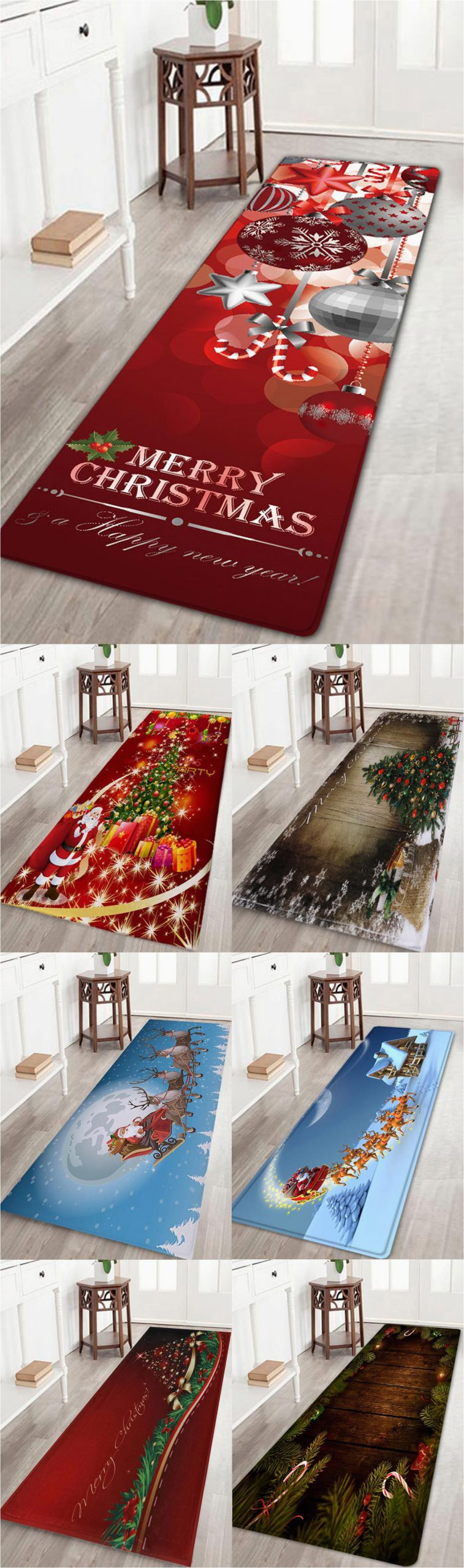 Round Christmas Bath Rugs Up to Off Rosewholesale Christmas ornaments Ball Print