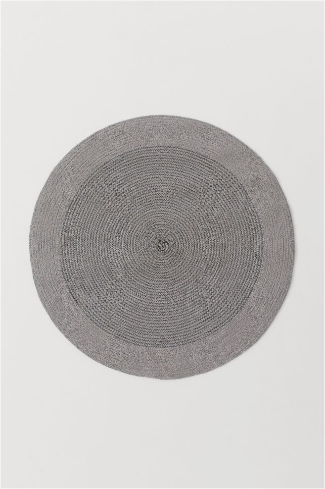 Round Gray Bath Rug Round Jute Floor Mat In 2020