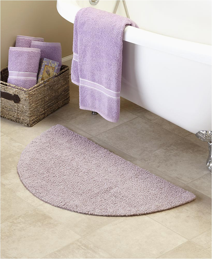 Semi Circle Bath Rug Reversible Cotton Half Circle Bath Rugs