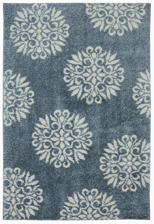 flemington floral slate blue area rug