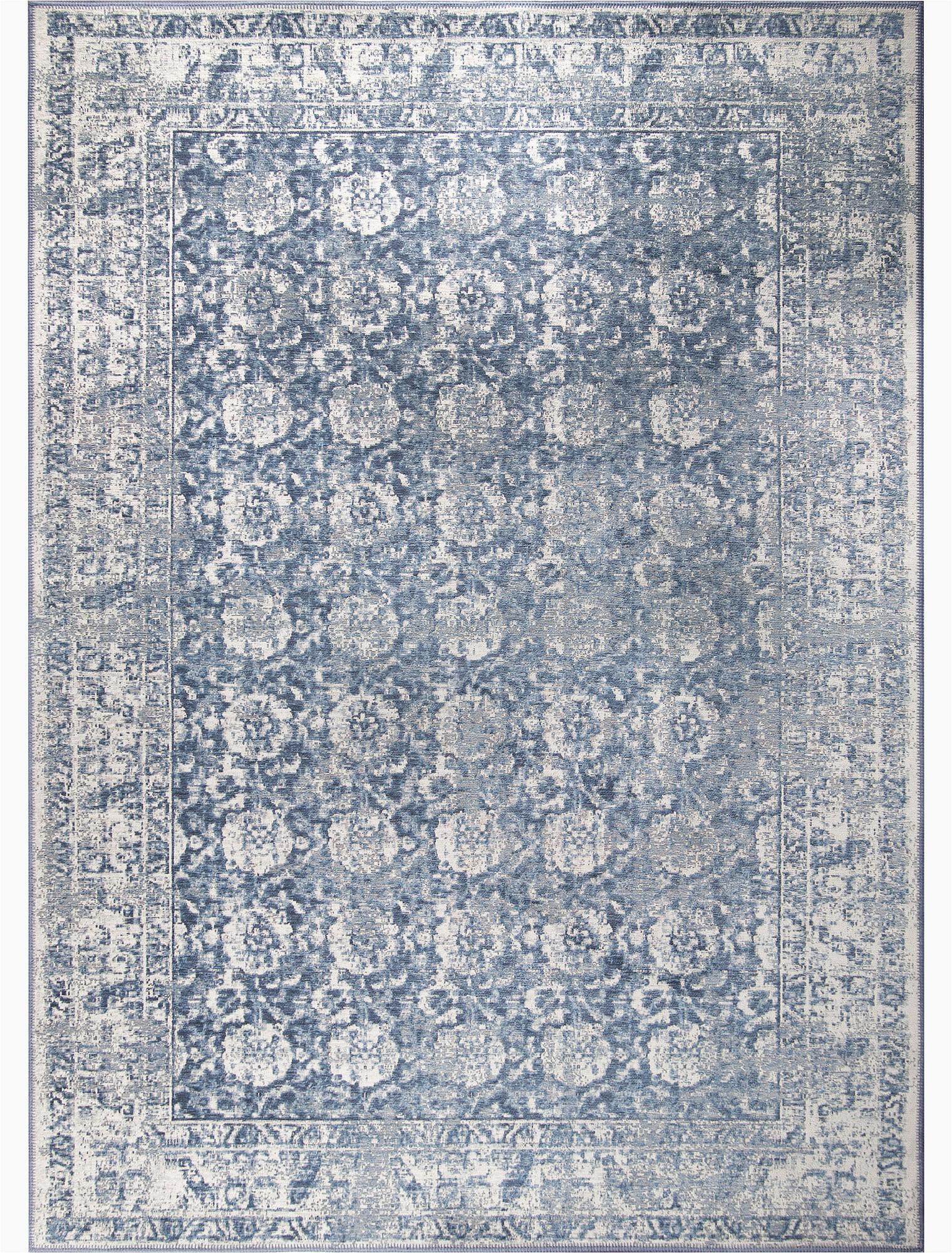 gareth woolcotton slate blue area rug