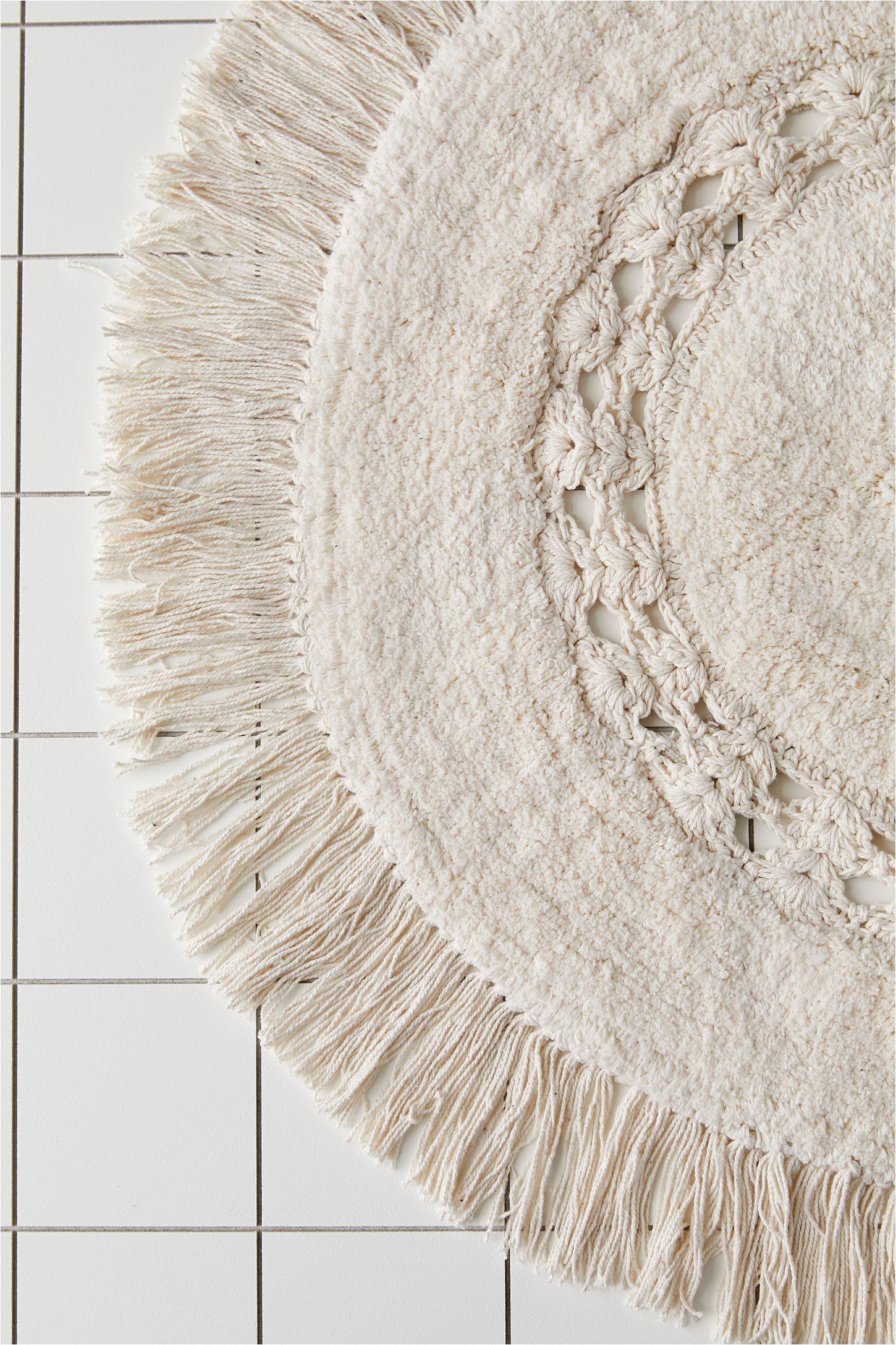 Small Round Bath Rugs Raine Crochet Round Bath Mat In 2020