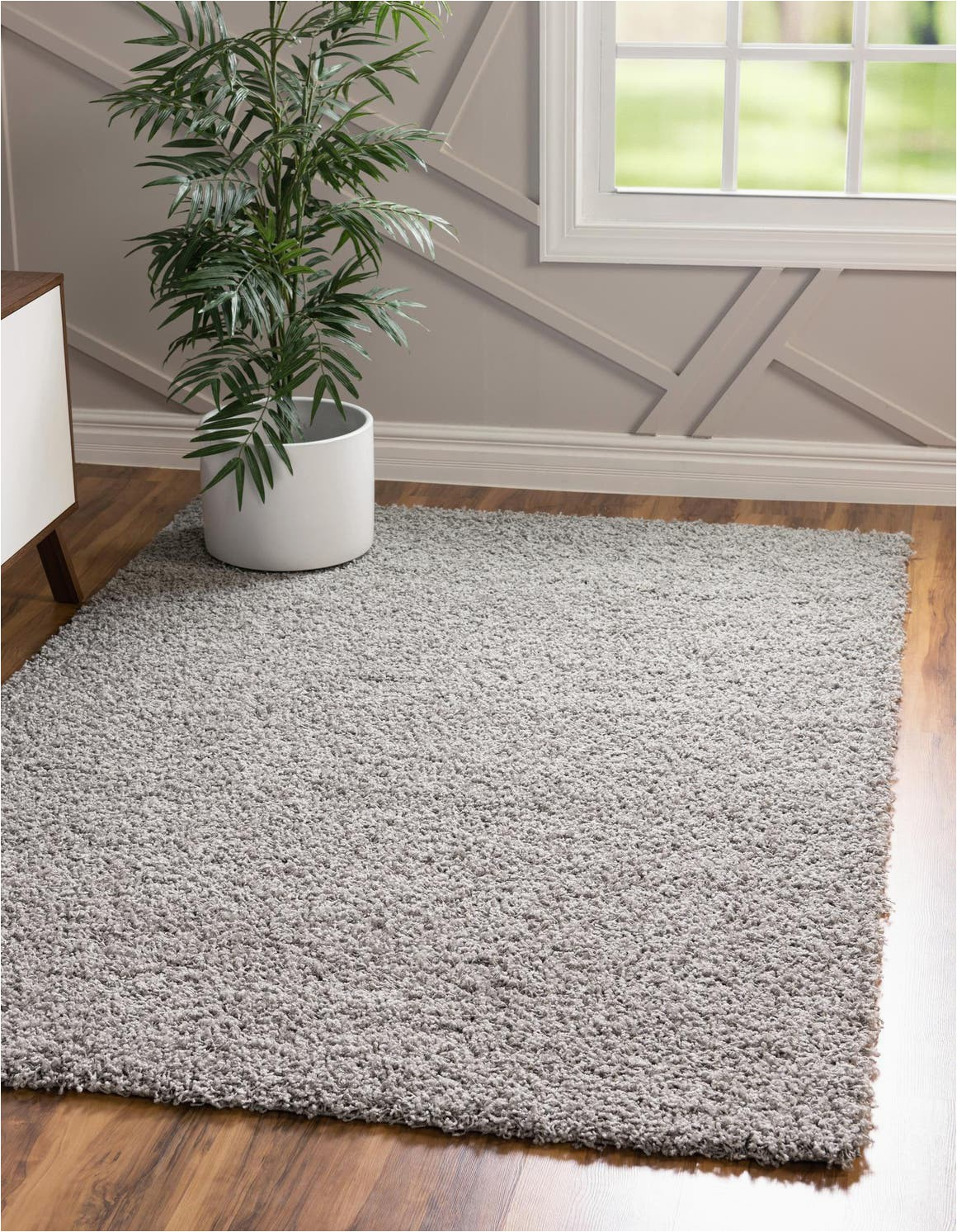 cloud gray 8x10 solid shag area rug