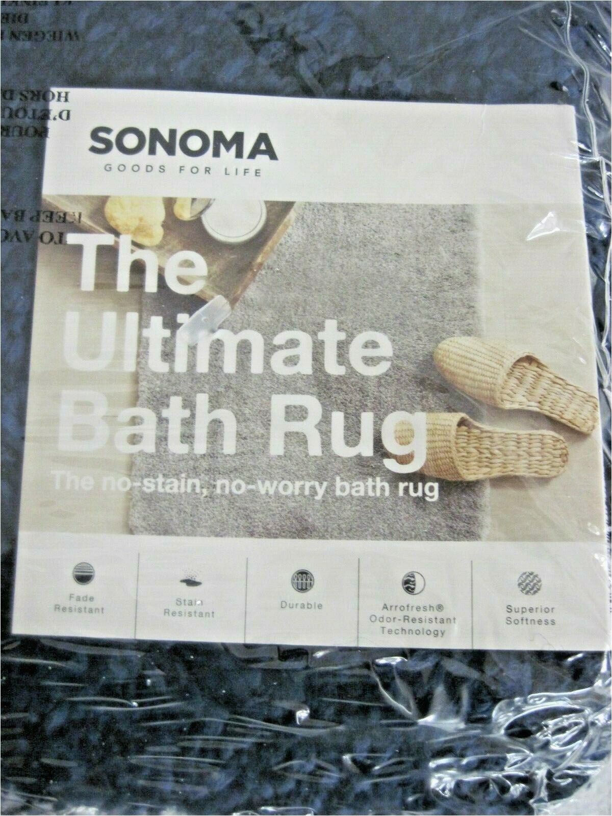 """Sonoma Goods for Life Ultimate Bath Rug Nip sonoma Goods for Life Ultimate Contour Bath Rug 20"""" X 24"""" Blue"""