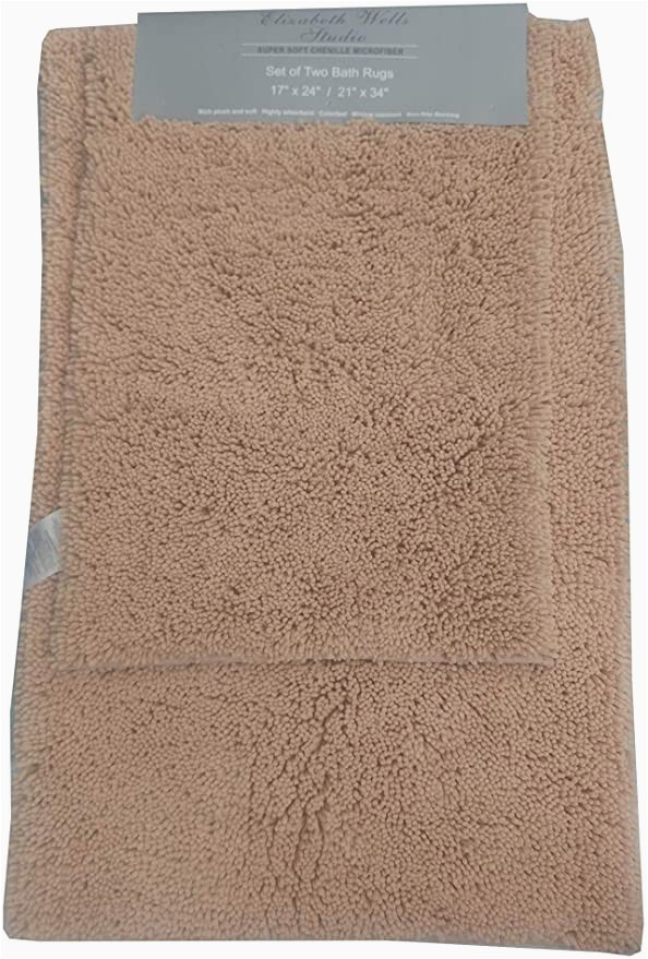 Super soft Bath Rugs Amazon 2 Piece Super soft Chenille Microfiber Bath Rug