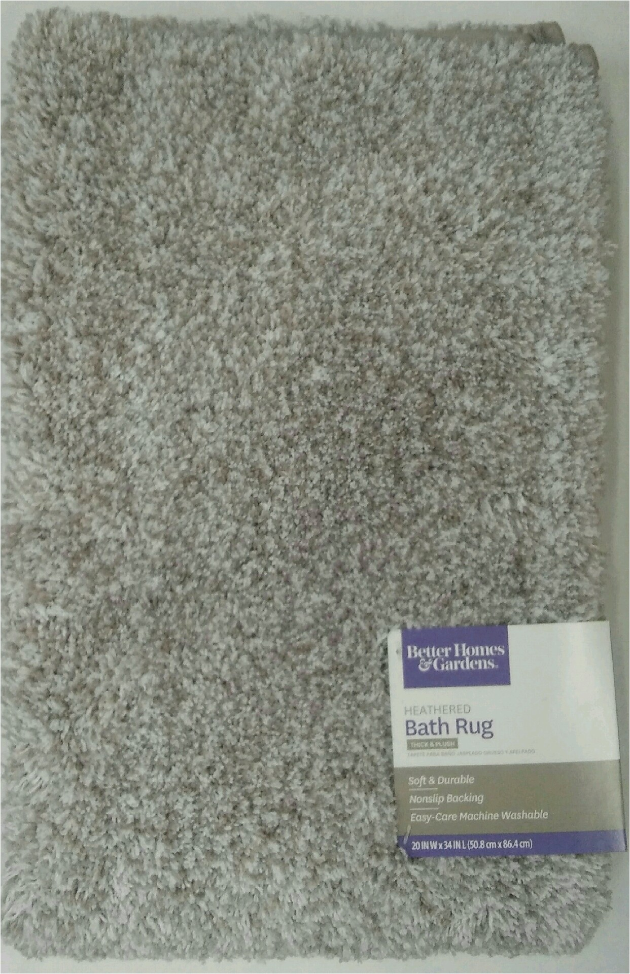 Thick Plush Bath Rugs Better Homes and Gardens Thick and Plush Bath Rug 20 X 34 Taupe Splash Heather