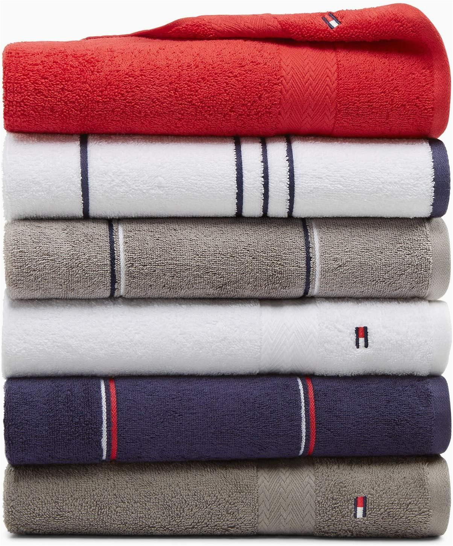 Tommy Hilfiger White Bath Rug Amazon tommy Hilfiger All American Double Stripe Bath