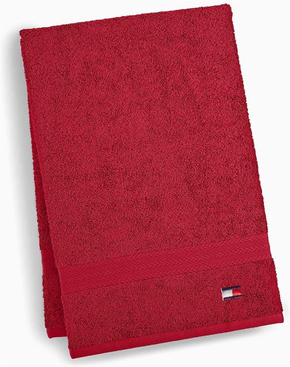 Tommy Hilfiger White Bath Rug tommy Hilfiger All American Ii Bath towel 27 X 52 Inch Red